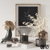 Black decorative set