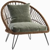 PINEAPPLE Resin Wicker Garden Armchair Realistic