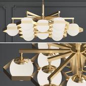 anke brass globe chandelier