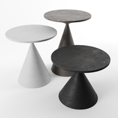 Mini clay tables by Desalto
