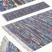 Patterned Woven Mat - Blue
