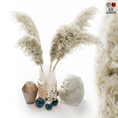 Decor Set With Pampas Grass 01