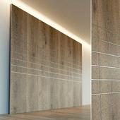 Wall panel made of wood. Decorative wall. 48