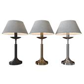 настольная лампа Hotel 01010/1 чёрный / античная бронза / хром