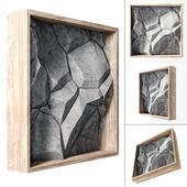 Stone wall frame
