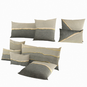 Restoration Hardware Hand-Painted Watercolor Pillows in Twilight Gold