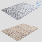 Modern Fur Rug Carpets 2 pcs