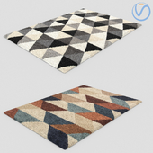 Modern Fur Rug Carpets 2pcs