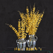 Flower Arrangement: Forsythia Set1