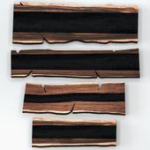 Slabs of wood