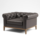 Italia Chesterfield Leather Chair Rh