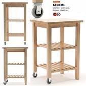 Little table with IKEA BEKVEM wheels