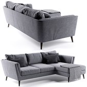 Richmond Corner Sofa rosa and gray