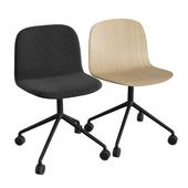 Visu Wide Chair Swivel W. Castors