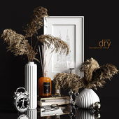 Decorative set with dry plants 2