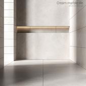 Cream marble tiles 2