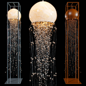 Chandelier and floor lamp JELLYFISH