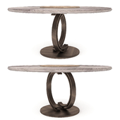 Round Dining Table Blue Moon