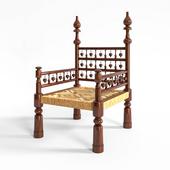 Rush Seat Throne Armchair1