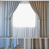 Curtains 17   Curtains with Tulle   ROHI   Credo   Two colors