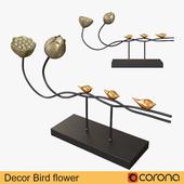 Decor Bird flower