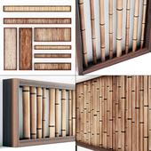 Перегородки из веток бамбука / Wall branch bamboo