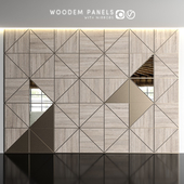 Wooden panels with mirrors