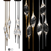 IL PEZZO 12 ROUND CHANDELIER Nickel and Gold