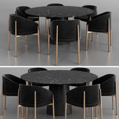 Porro Frank armchair and Materic table 2