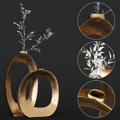 Elodie Brass Ring Vases