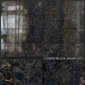 Yurtbay Seramik Cosmos Black 300x600 Set 1