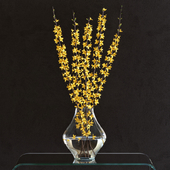 Flower Arrangement: Forsynthia Set4