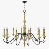 Currey and company - Leclaire chandelier