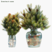 Branches in vases 30 : Red Candle