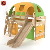 Детская кроватка с горкой Fleximo Exklusiv 125