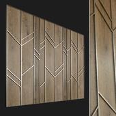Wall panel made of wood. Decorative wall. 57