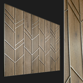 Wall panel made of wood. Decorative wall. 58