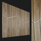 Wall panel made of wood. Decorative wall. 59