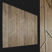 Wall panel made of wood. Decorative wall. 60
