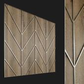 Wall panel made of wood. Decorative wall. 61