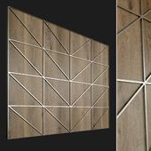 Wall panel made of wood. Decorative wall. 63
