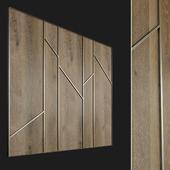 Wall panel made of wood. Decorative wall. 66