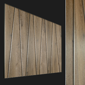 Wall panel made of wood. Decorative wall. 67