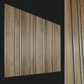 Wall panel made of wood. Decorative wall. 68