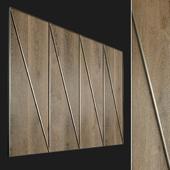 Wall panel made of wood. Decorative wall. 70