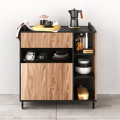 Kitchen cupboard with a set of ZARA HOME