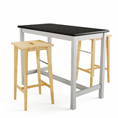 Bar table and chair Utby Nilsolle