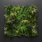 Low poly vertical garden