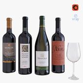 wine bottle set 5