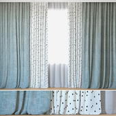 Curtains 10 | Curtains with Tulle | Alber Panama and Ottoman Triangles